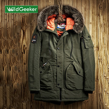 Wildgeeker Men's Winter Parkas Jacket Fur Collar Outerwear Fashion Hood Padded Quilted Warm Male Jackets Hooded Plus Size M-3XL