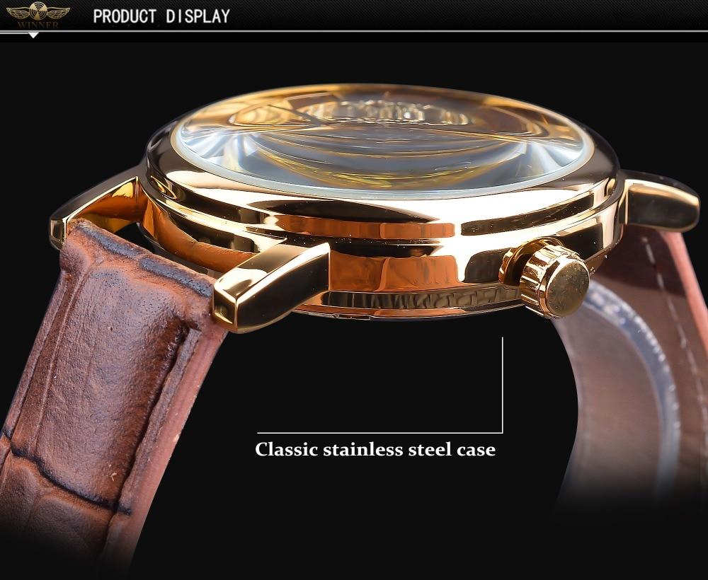 HTB12vmIXtfvK1RjSszhq6AcGFXah Winner Transparent Golden Case Luxury Casual Design Brown Leather Strap Mens Watches Top Brand Luxury Mechanical Skeleton Watch