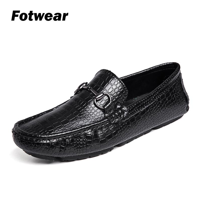 Fotwear Men Loafers City Fashion Summer Style Soft Solid Leather Uppers shoes Driving Big rubber outsole Slip-ons