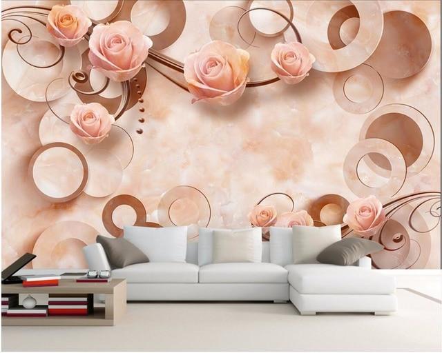 Roze Decoratie Woonkamer : Beibehang d behang home decoratie foto behang roze roos jade