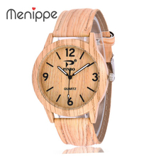 2020 Unisex New Fashion Leather Casual Women Wristwatch Men Cowhide Brand Lovers Wood