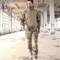 SINAIRSOFT Tactical G3 Camouflage Suit Military Airsoft Uniform BDU Rapid Assault 1/4 Zip Combat Shirt Pants Set Multicam Sniper