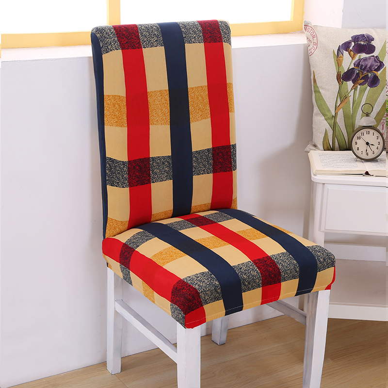 Elastic Plaid Chair Covers Anti-dirty Chair Slipcover Durable for Wedding Dining Chairs Protector Home Decorations Mother Gifts
