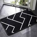 Honlaker коврик для ванной черно-белый классический геометрический узор Супер мягкий Впитывающий Коврик для ванной комнаты нескользящий коври...