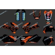 Orange & Schwarz NEW TEAM GRAFIKEN und HINTERGRÜNDE ABZIEHBILDER AUFKLEBER Kits FÜR KTM SXF MXC EXC SX Serie 2005 2006 2007