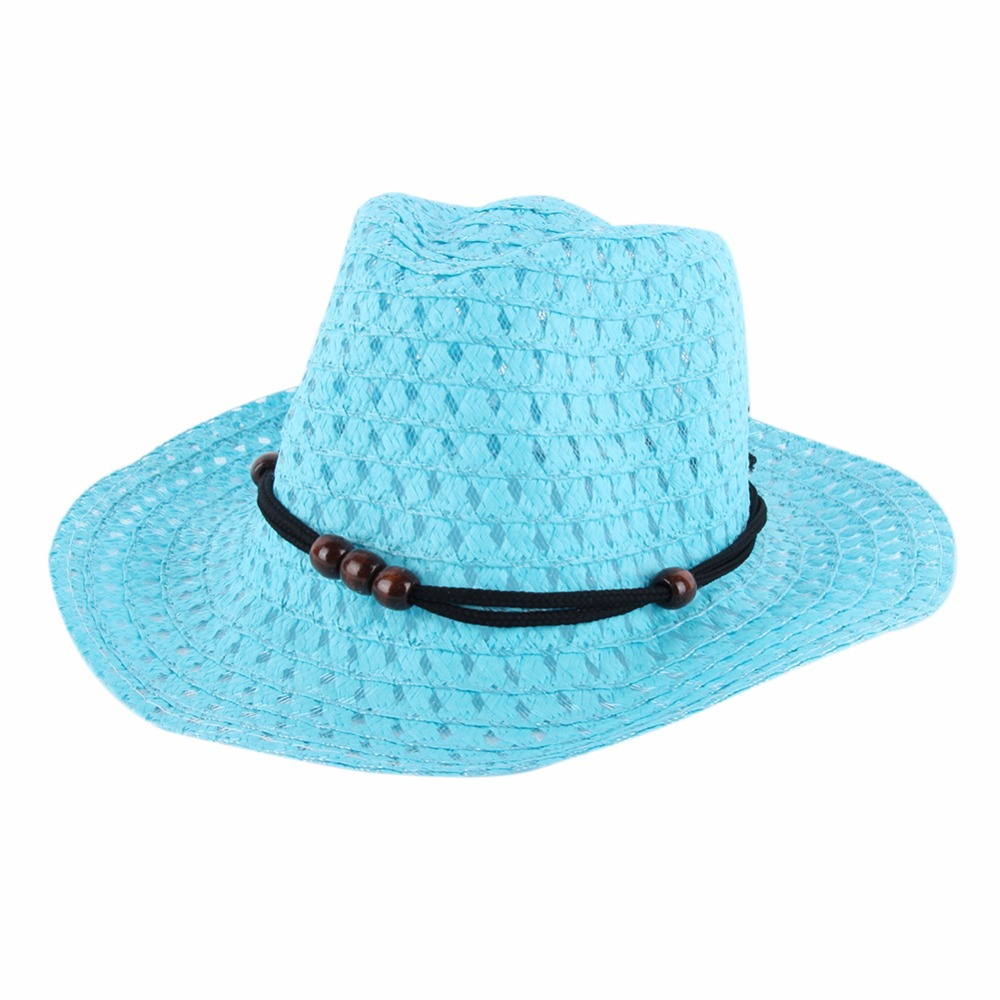 Детские Дети Обувь для мальчиков Обувь для девочек Летняя соломенная шляпа ковбойские Джаз Защита от Солнца шляпа Кепки