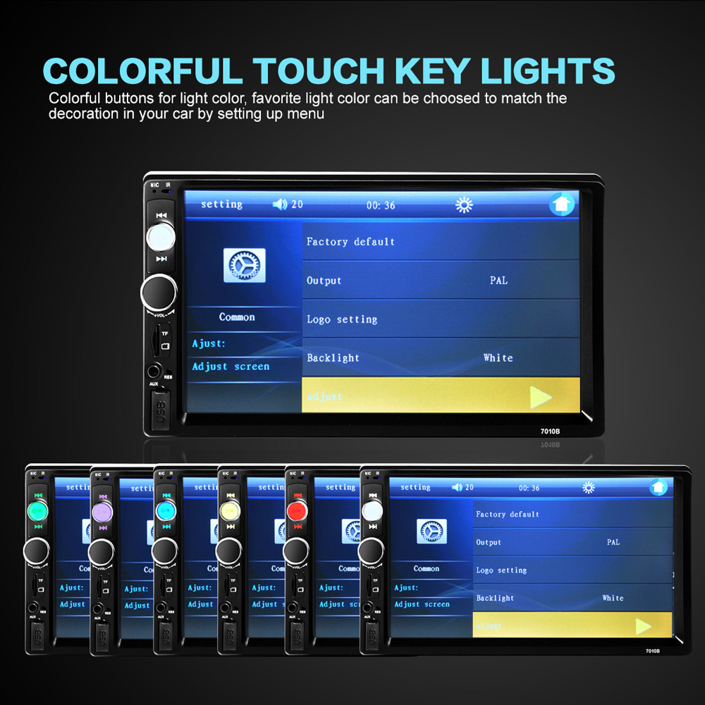 Detail Feedback Questions about 7010B 2 Din Car MP5 Player 7'' Radio