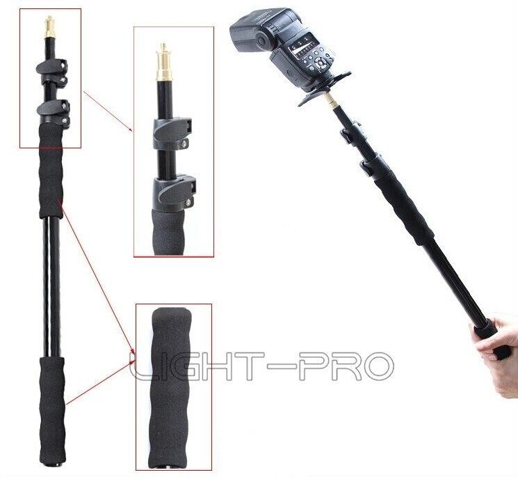 Prix pour En Alliage d'aluminium De Poche Main Grip Rig Soutien Rod Flash Light Speedlite Support de Microphone