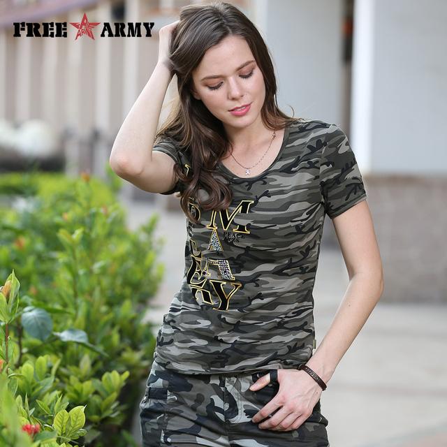 Alta Calidad Mujeres de la Camiseta del Nuevo Diseño Del Verano T-Shirt de Algodón de Camuflaje Anti-Mosquito de Manga Corta Para Mujer Tops Tees Gs-8585B