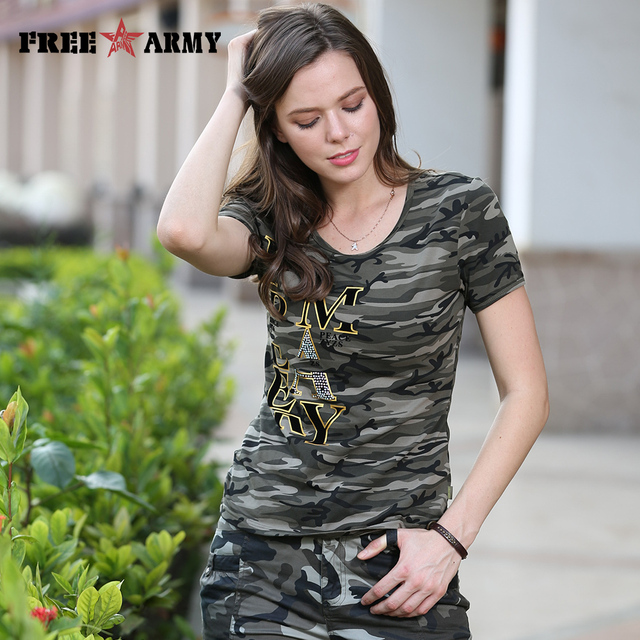 High Quality T Shirt Women New Design Summer T-Shirt Camouflage Cotton Anti-Mosquito Short Sleeved Womens Tops Tees Gs-8585B
