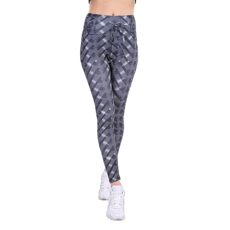 CHRLEISURE Print Women Leggings 2018 New Multicolor High Waist Ankle-Length Polyester Breathable Knitted Fitness Women Leggings