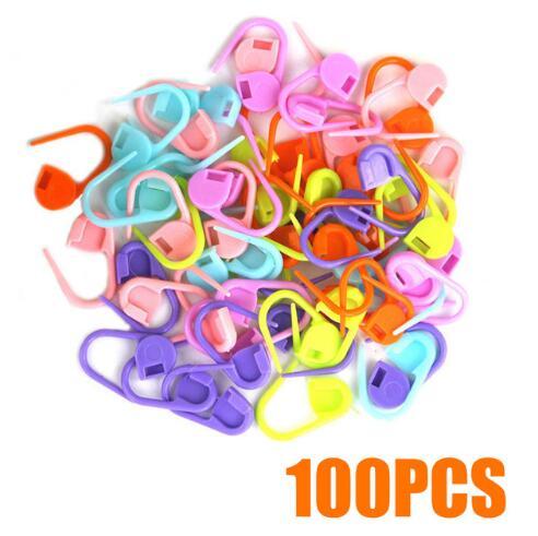 Hot Sale 50/100/500pcs Mixed Color Knitting Crochet Locking Stitch Needle Clip Marker Mayitr Crochet Locking Stitch