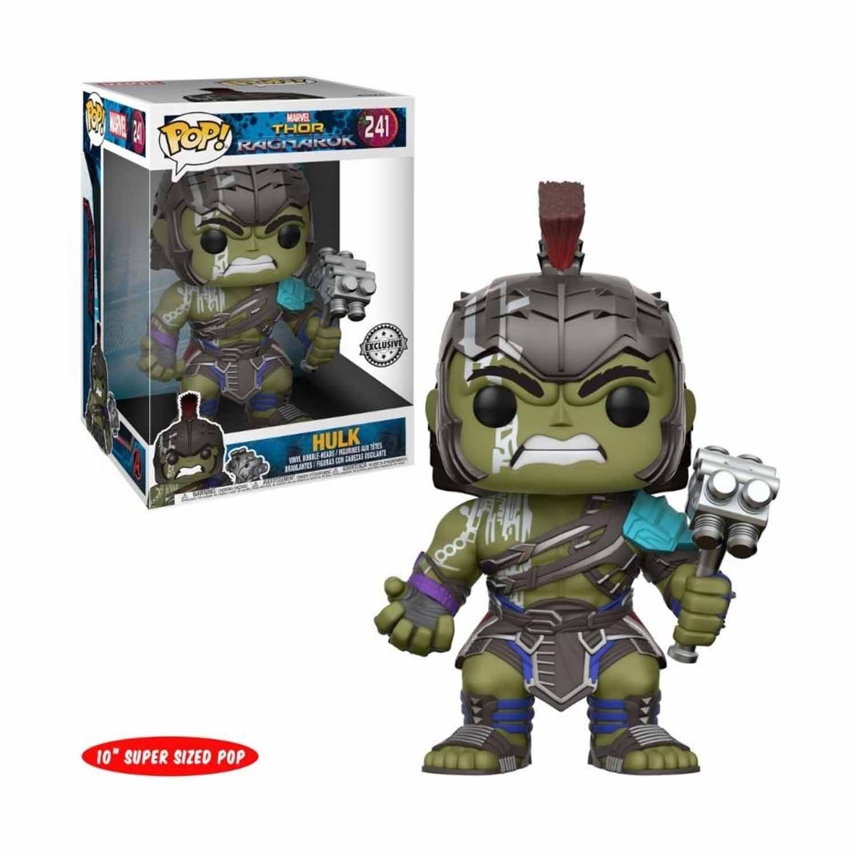 Exclusive 10'' Super Sized Funko pop Official Thor Ragnarok - Hulk Target # 241 Collectible Vinyl Action Figure Model Toy funko pop games illidan 14 pvc action figure collectible model toy 4 10cm kt2242