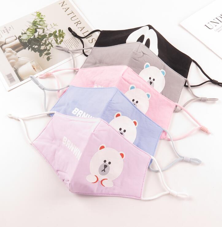 Damen-accessoires Verantwortlich Kinder Winter Warm Schöne Cartoon Maske Kinder Mädchen Pm 2,5 Atmungsaktive Baumwolle Mund-muffel R468