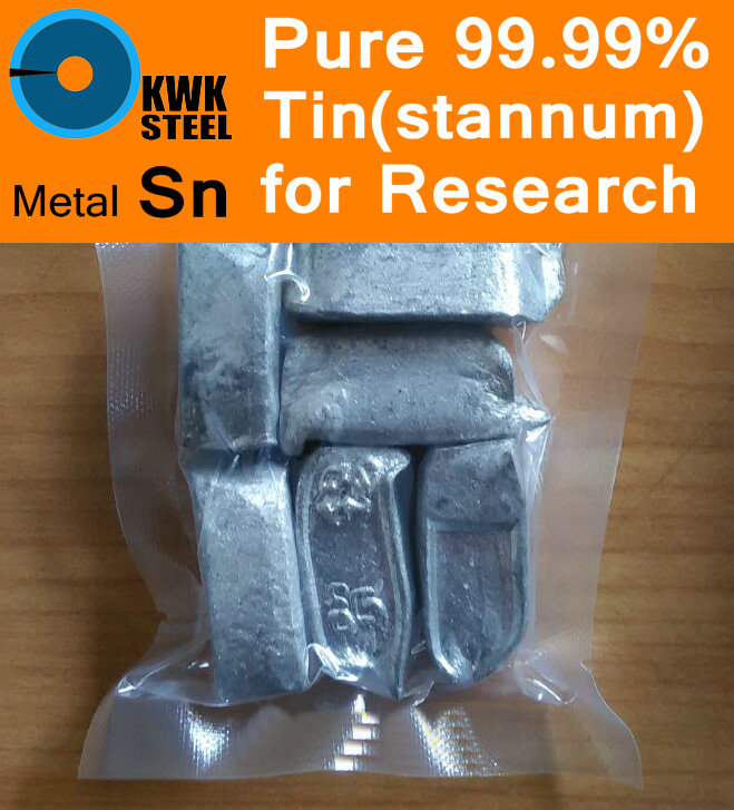 Pure Tin Ingot 99.99% Stannum Solid Particles Grain Pellet Granule Metal Sn University Experiment Research Free Shipping