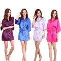 Плюс Размер Кимоно Одеяние Пижамы Невесты Одеяние 2016 Новый Китайский Кимоно Халаты Для Женщин Дома Невесты Халат S-XXL 010406