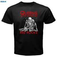 GILDAN QOTSA Queens Of The Stone Age Red Rocks Rock Band Men S Black T Shirt