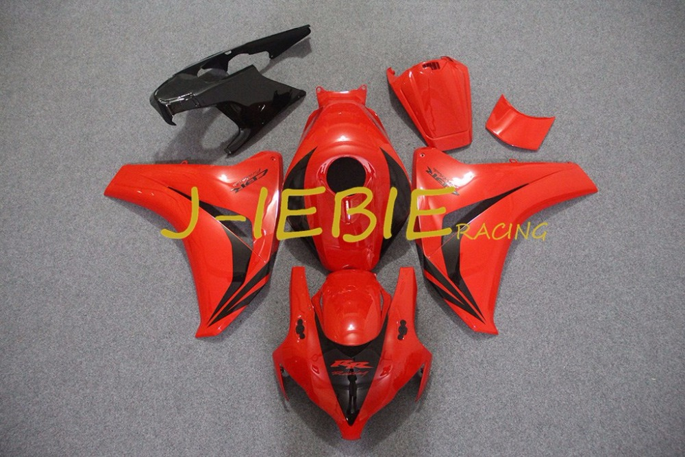 Red Injection Fairing Body Work Frame Kit for HONDA CBR1000RR CBR 1000 CBR1000 RR 2008 2009 2010 2011