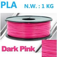 Темно-розовый 3d накаливания ноак накаливания 1.75 мм 1 кг высокое качество 3d принтер накаливания Китай pla filamento 1.75 мм 3d печать накаливания