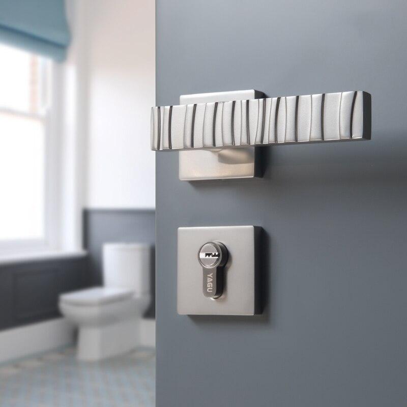 1 Set /zinc alloy door handle lock Anti theft door lock security Dual Latch for Bedroom Bathroom Furniture Gate Lock Accessories