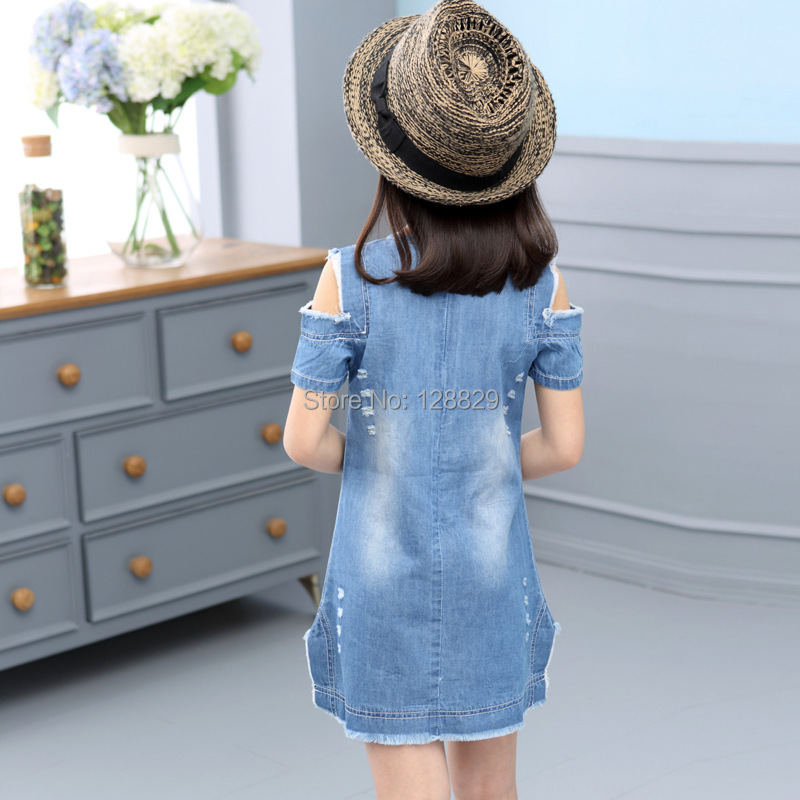 Denim Dresses For Girls (4)