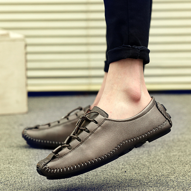 cf423dc7f31e1 2017 Spring Men Driving Shoes Casual Leather Shoes Fashion Real Leather  Loafers Moccasins Slip On Men's