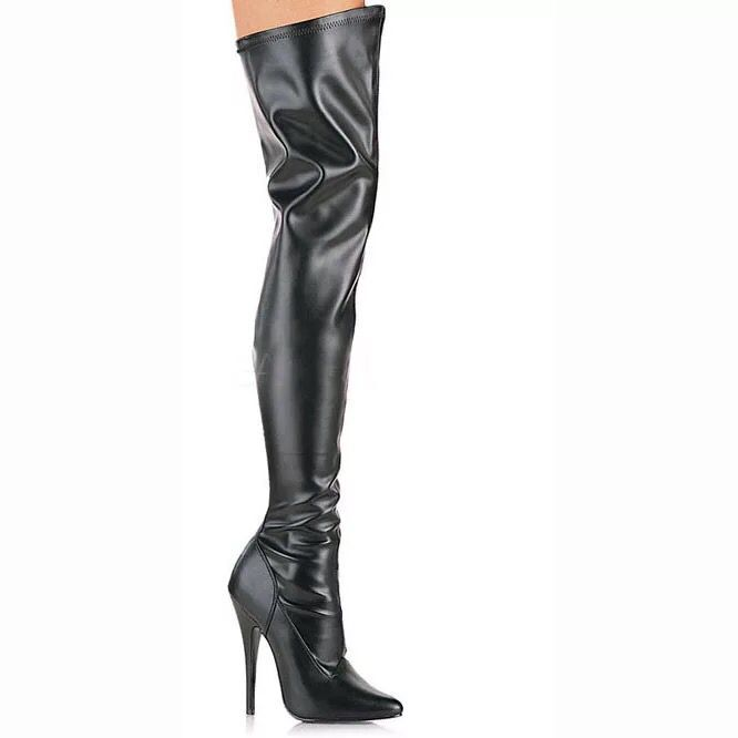 Longues the 2018 Bottes Mince Vente Noir Chaude Cuir Color Over Pointu Boot As Chaussures Femme Showed Bout En genou Talon Zip Femmes SrAZ0qYwr