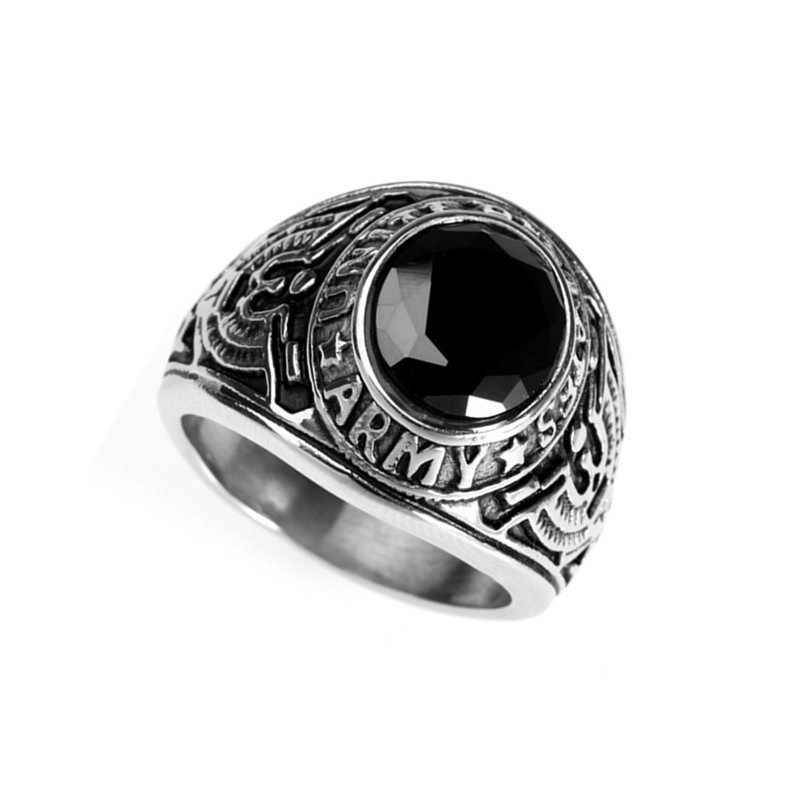Punk In The Heart Of Titanium Sapphires Ring Luo Men Silver Metrosexual Domineering Personality Trendsetter Retro Ring
