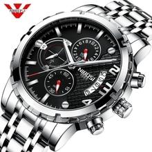 NIBOSI человек часы 2018 Relogio Masculino для мужчин часы Автоматическая ДАТА Кварцевые водонепроницаемые женские часы Спорт мужской часы Reloje