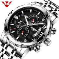 NIBOSI Man Watch 2019 Relogio Masculino Men Watch Automatic Date Quartz Watches Waterproof Wristwatch Sport Male Watch Reloje
