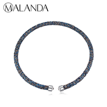 MALANDA Brand 2018 New Fashion Chokers Necklaces For Women Crystal From Swarovski Statement Necklace Wedding Party Jewelry Gift