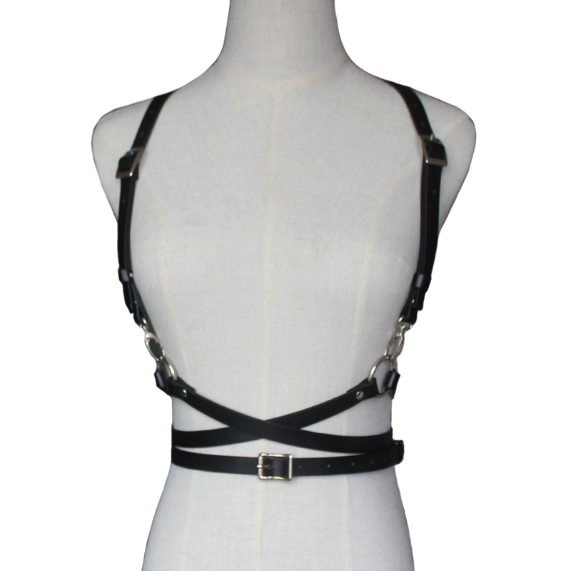 Sexy Punk Faux Leather Body Bondage Sculpting   Belts   for Women Female Harness Waist   Belts   Straps Suspenders accessories