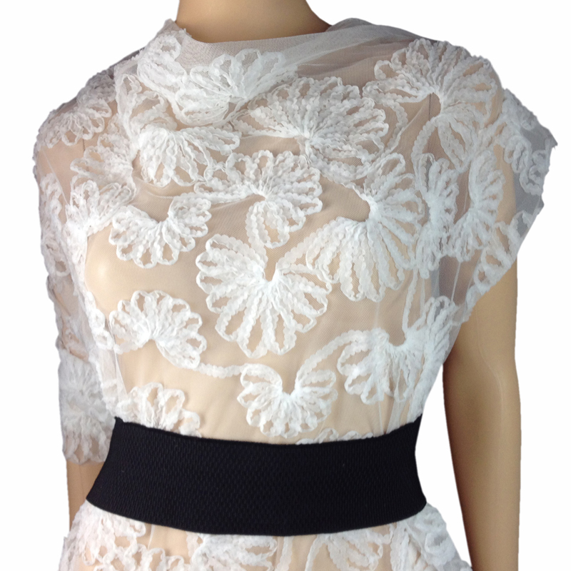 3D Elbise için Afrika Şifon Örgü Dantel Kumaş, 1 Yard 90 * 130 - Sanat, el sanatları ve dikiş - Fotoğraf 1