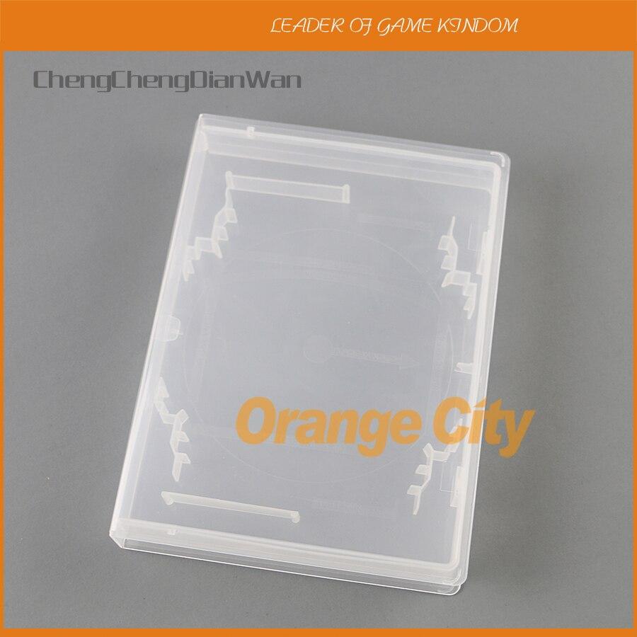 50pcs lot For PlayStation CD box housing case shell for snes n64 sega transparent white