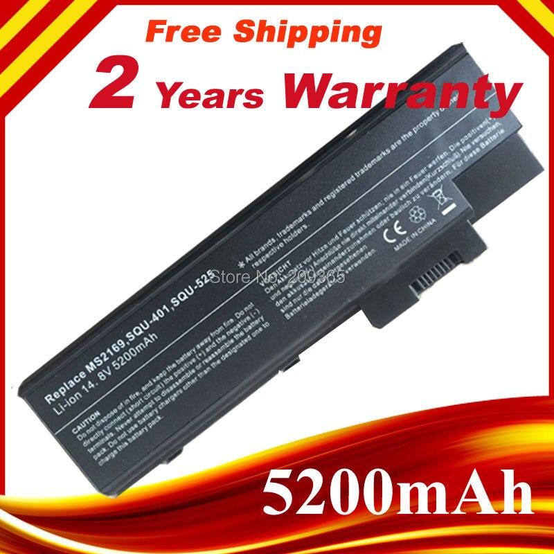 5200 mAh batterie d'ordinateur portable pour ACER Aspire 1410 1415 1640 1650 1680 1685 1690 1695 3000 5000, Travelmate 2300 4000 4060 4100 4500