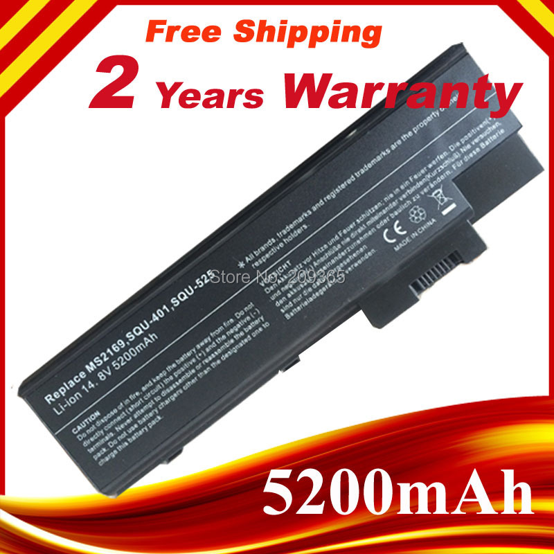 5200mAh Laptop Battery For ACER Aspire 1410 1415 1640 1650 1680 1685 1690 1695 3000 5000,TravelMate 2300 4000 4060 4100 4500