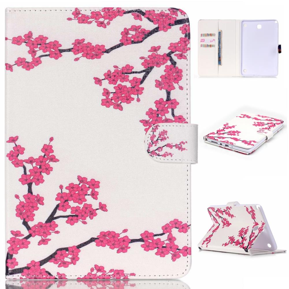 Rose Princess Dandelion PU Leather Case Cover For Samsung Galaxy Tab A 8.0 T350 T351 T355 Sm-T355 P350 8'' Tablet Smart Cover #