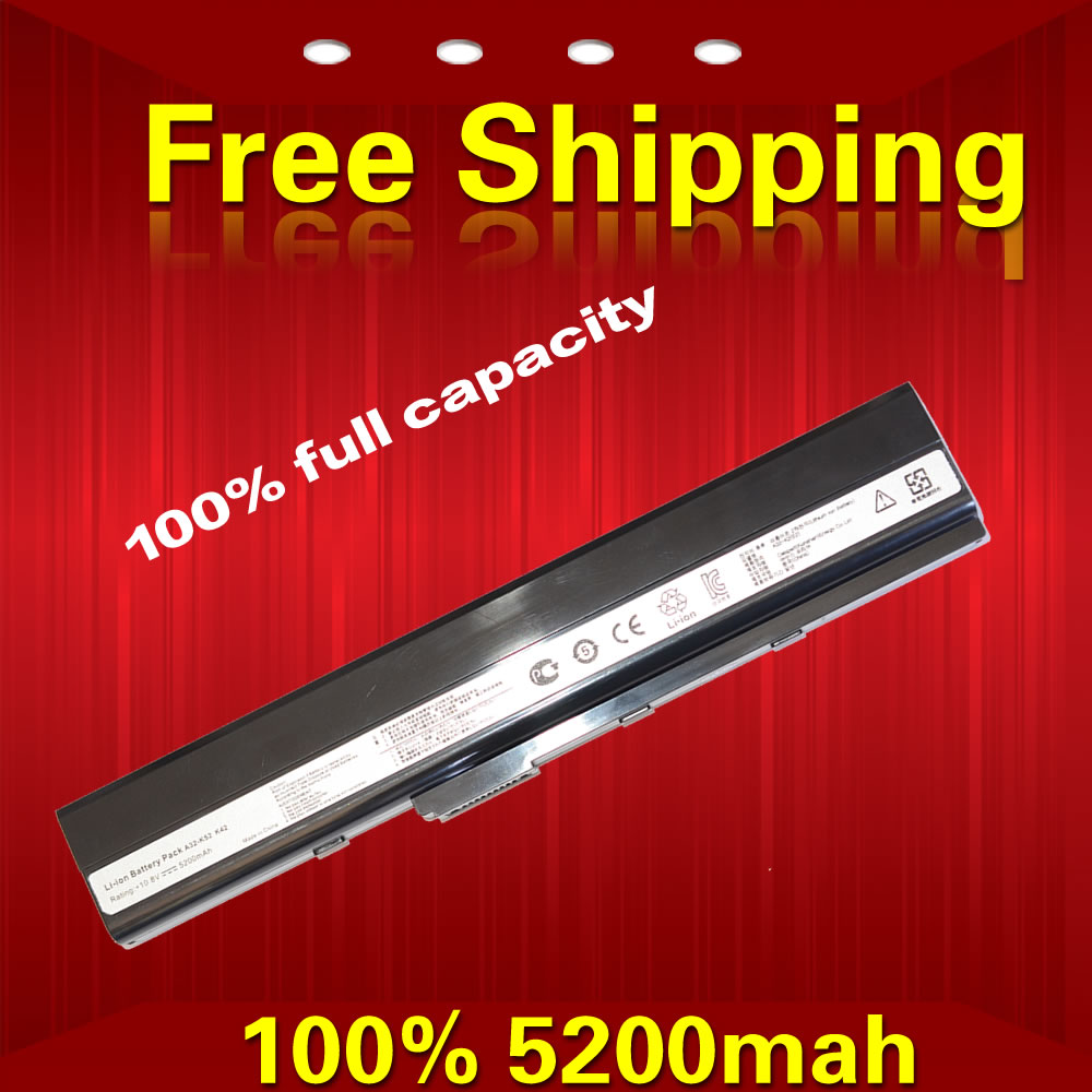 5200 MAH Replacement Laptop Battery For Asus K42 K52 k52j A31 K52 A32 K52 A41 K52