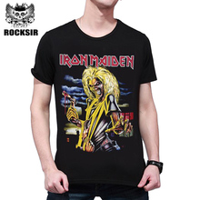 Tshirt Men Fashion 2017 Iron Maiden 3D T shirt Brand Clothing anime Hip Hop Letters Men's T-shirt Cotton Casual Homme Tops Tee
