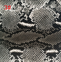 Synthetic PVC Snake Printed Imitation Leather Material