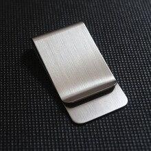 2016 Stainless Steel Slim Pocket men design Money Clip Wallet Cash ID Credit Card business dollar Holder Metal Bill Clamp
