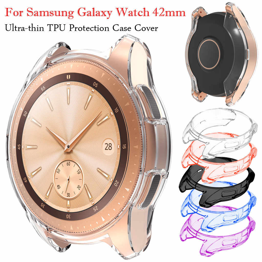 Ultra-thin Soft TPU Protection Silicone Case Cover For Samsung Galaxy Watch 42mm wearable devices relogios drop shopping