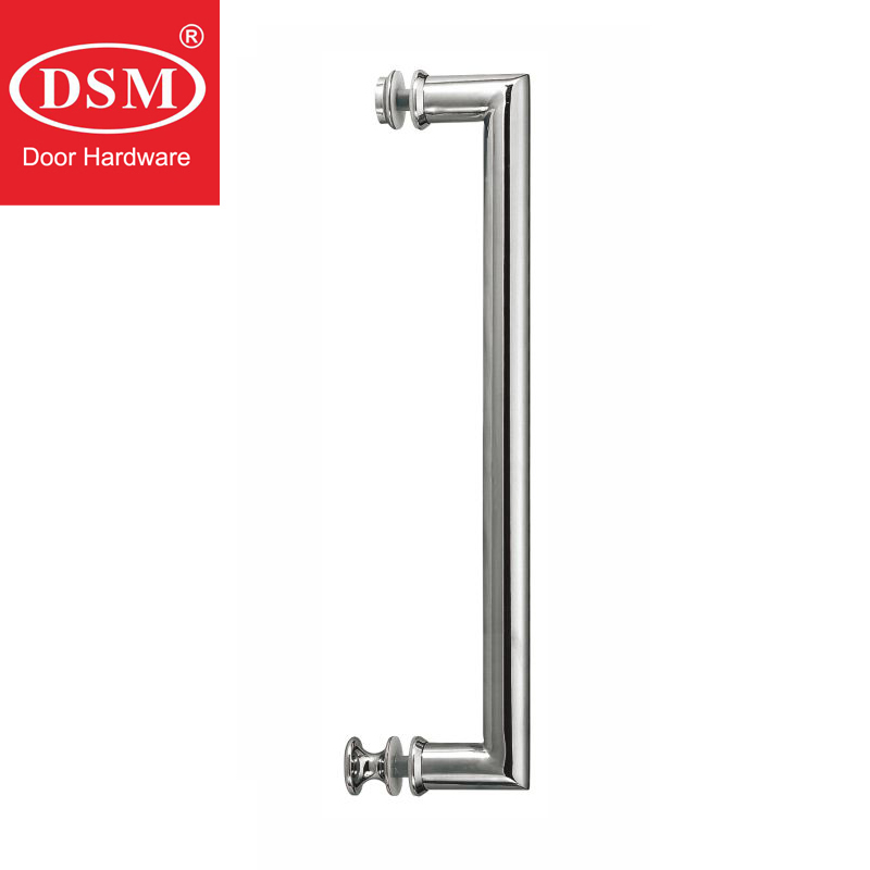 Shower Door Handle Stainless Steel Tube Pull Handles Copper Accessories For Glass Doors PA-625-25*500mm entrance door handle high quality stainless steel pull handles pa 121 38 500mm for glass wooden frame doors