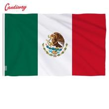 Внутренний и наружный флаг, 90х60 см, Мексиканский национальный флаг, Декор, баннер, Мексиканский Флаг N025