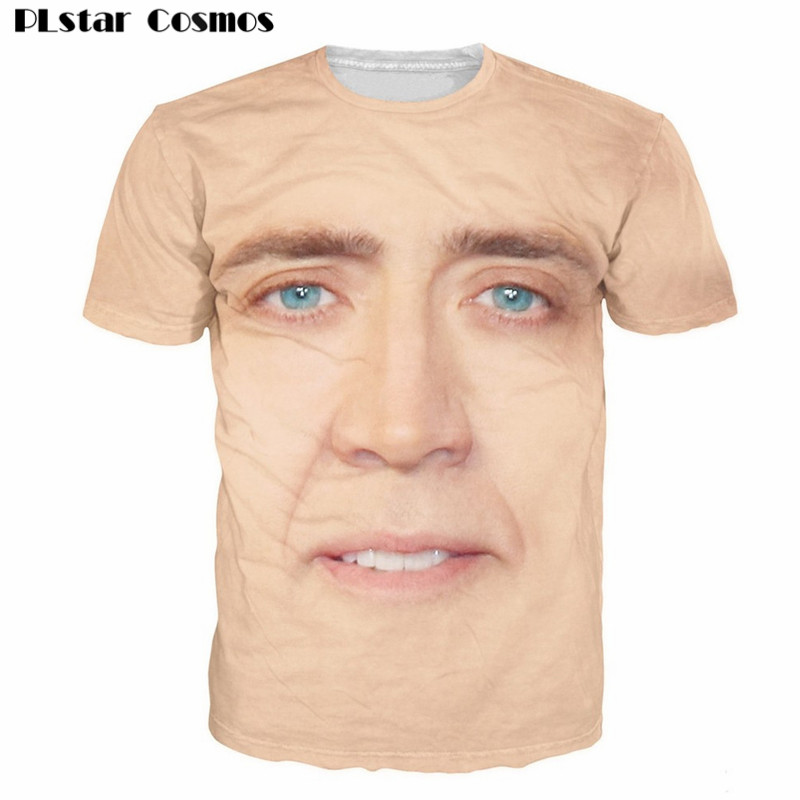PLstar Cosmos Nicolas Cage T-Shirt National Treasure 3D Print t shirt Women Men Summer Funny tee tops Plus size 5XL Drop ship