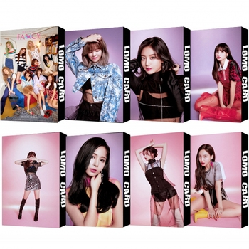 30Pcs/set KPOP TWICE Girls 08 Fancy Album HD Photo Card PVC Cards Self Made LOMO Card Photocard 18pcs set kpop mamamoo reality in black album melting photo version for student card bus pvc crystal card