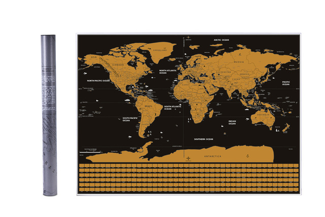 World Map travel Scratch Word With Flags and US States Scratches ...