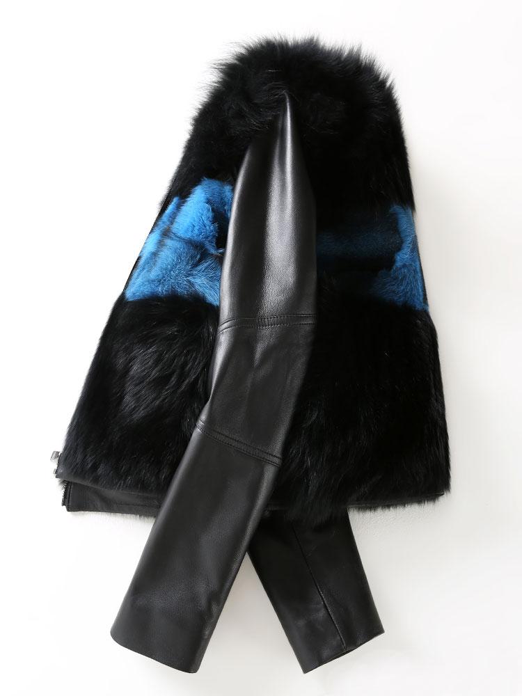 Vison Vêtements De Européenne pourpre Cuir Mouton En Fourrure Véritable Veste rouge Femmes Nouveau Hiver Z998 Renard Réel Automne Bleu Manteau Peau Manteaux wxgEqWzT