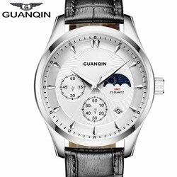Guanqin men watch fashion quartz men s watches moon phase luminous waterproof sport leather mens wristwatch.jpg 250x250