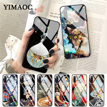 YIMAOC Trippy Art aesthetic Space astronaut Glass Case for Xiaomi Redmi 4X 6A note 5 6 7 Pro Mi 8 9 Lite A1 A2 F1
